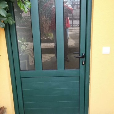 AL vrata sa lamelama zelena prskana3